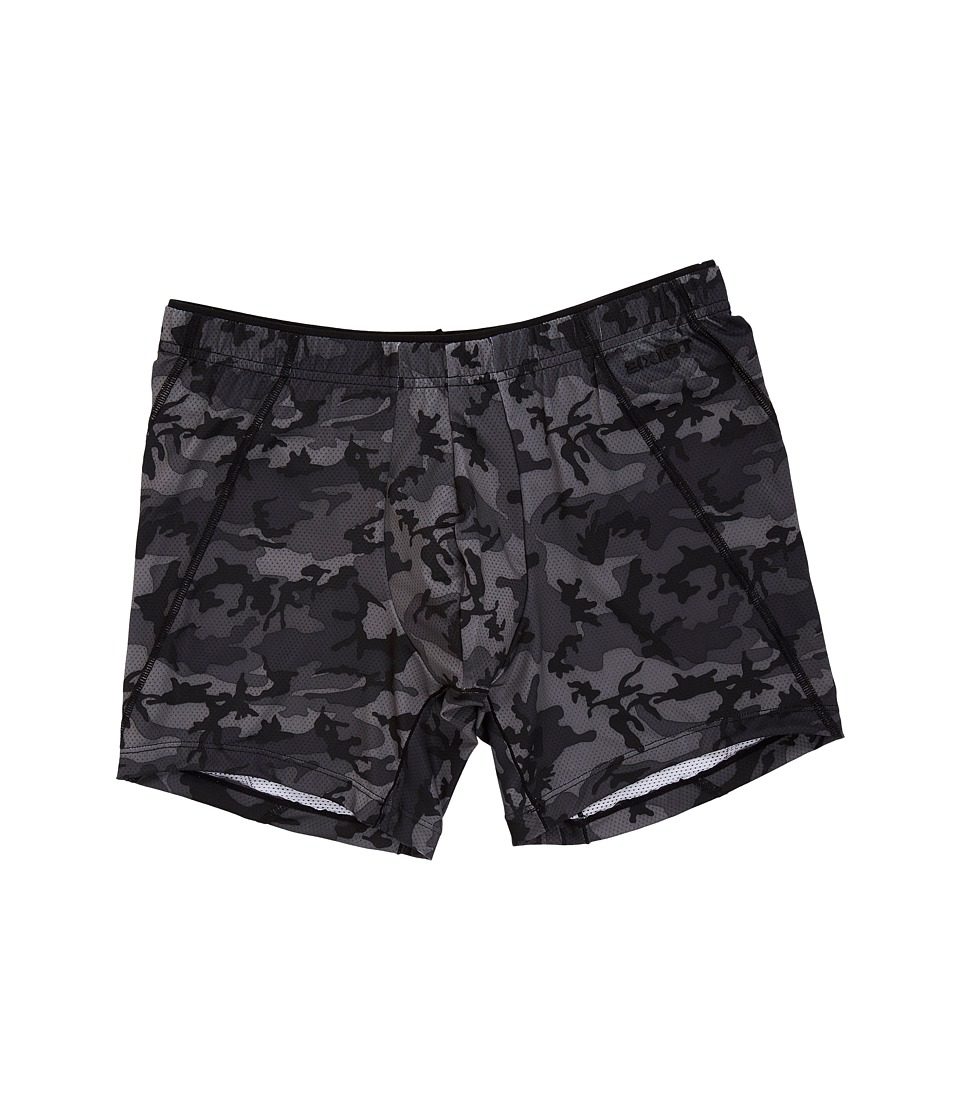 2(X)IST - Tech Micro Mesh No Show Boxer Brief (Black Camo) Men's Underwear