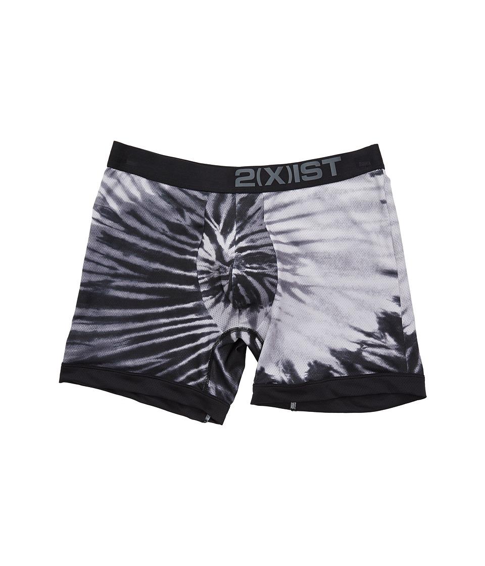 2(X)IST - Sliq Micro Mesh Sliq Sport Boxer Brief (Tie-Dye/Black) Men's Underwear
