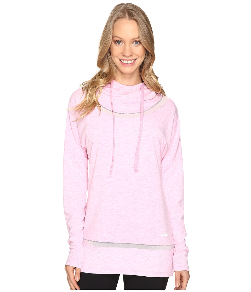Fila - Lux Yoga Pullover (Ballet Pink Heather/Varsity Heather) Women's Long Sleeve Pullover