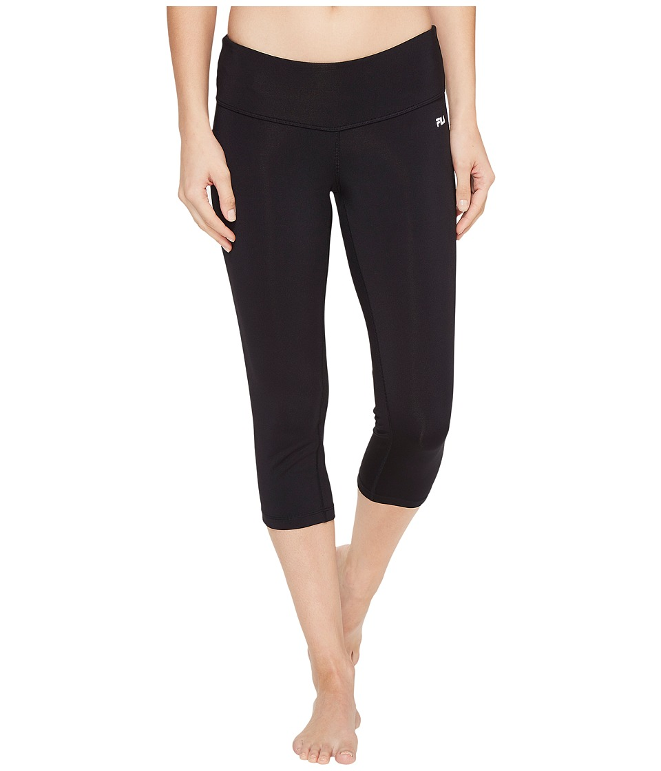 Fila - Solid Tight Capris (Black) Women's Capri