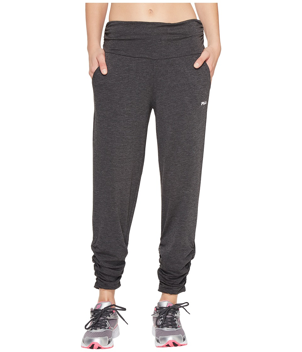 Fila - Convertible Length Pants (Black Heather) Women's Casual Pants