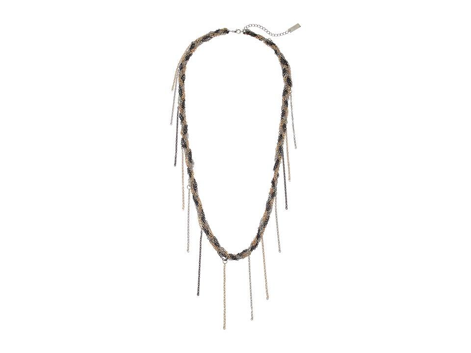 Steve Madden - Braided Fringe Necklace (Gold 1) Necklace