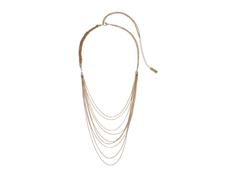 Steve Madden - Multi-Strand Braided Chain Necklace (Gold) Necklace
