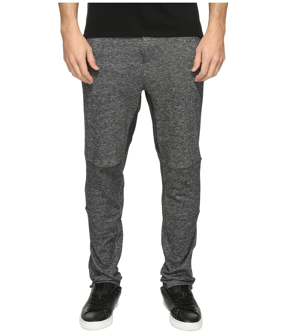 2(X)IST - Active Core Zip Terry Pants (Black Heather) Men's Casual Pants