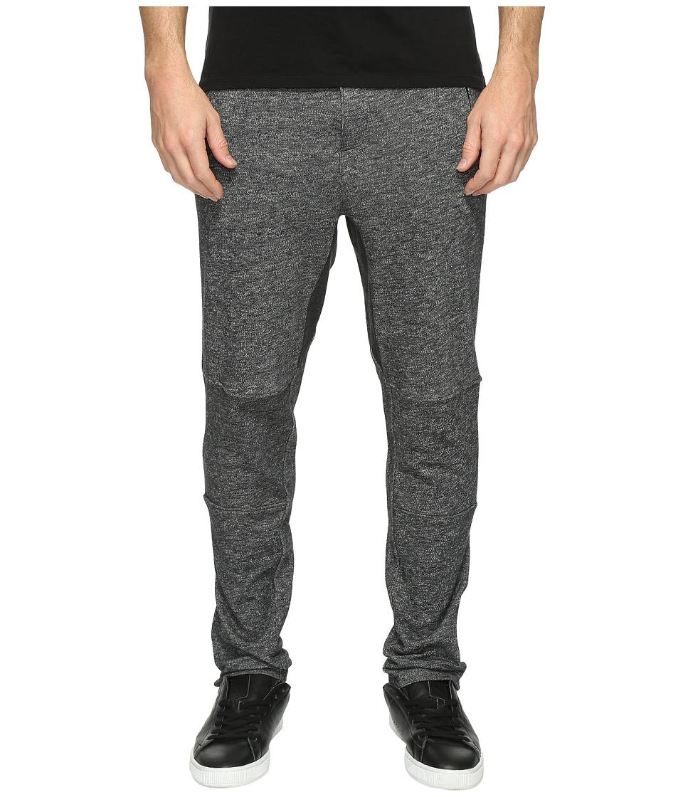 2(X)IST - Active Core Zip Terry Pants (Black Heather) Men's Casual Pants