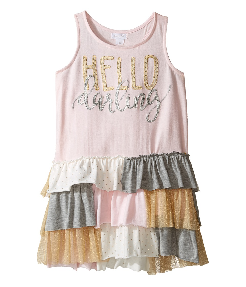 Mud Pie - Dream Big Darling Ruffle Dress (Infant/Toddler) (Pink) Girl's Dress