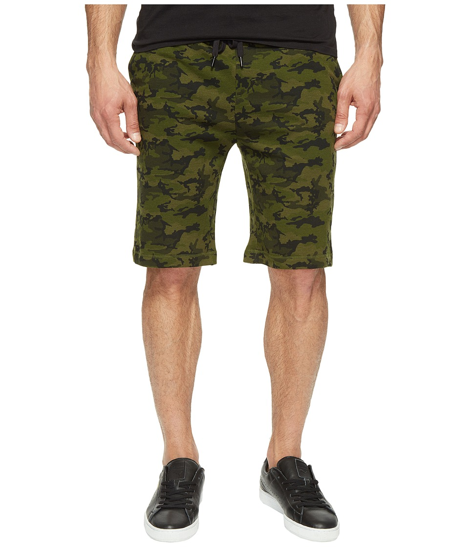 2(X)IST - Athleisure - Active Core Terry Shorts (Olive Camo) Men's Shorts