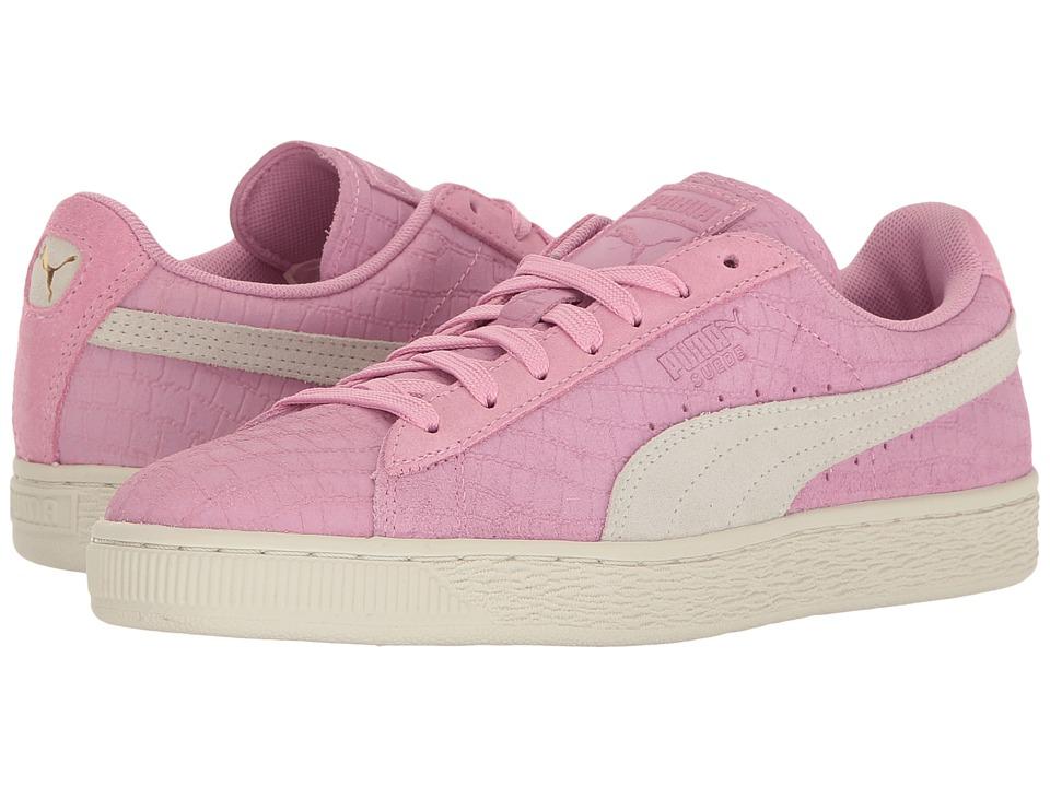 PUMA - Suede Classic Croc Emboss (Prism Pink/Puma White) Women's Shoes