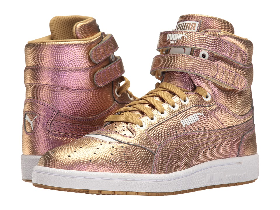 PUMA - Sky II Hi Holo (Gold) Men's Shoes