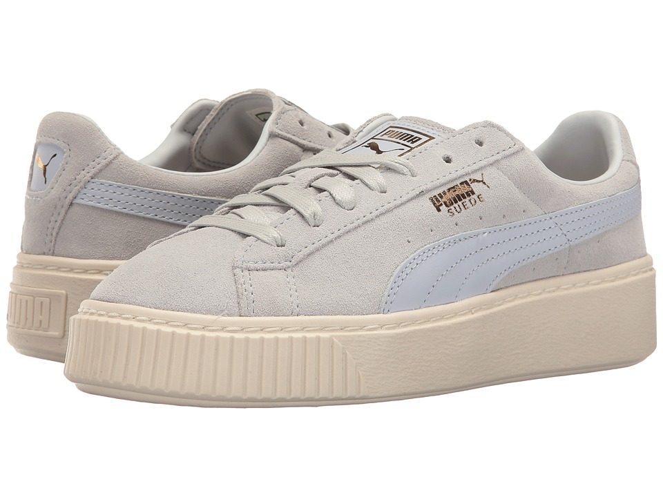 PUMA - Suede Platform Core (Halogen Blue/Whisper White) Women's Shoes