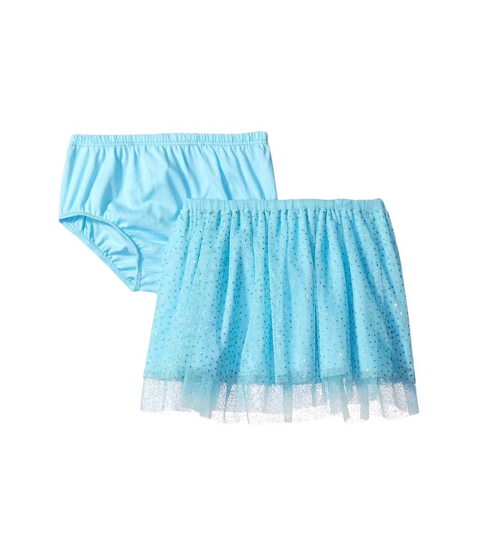 Mud Pie - Turquoise Mesh Skirt and Bloomers (Infant/Toddler) (Blue) Girl's Clothing