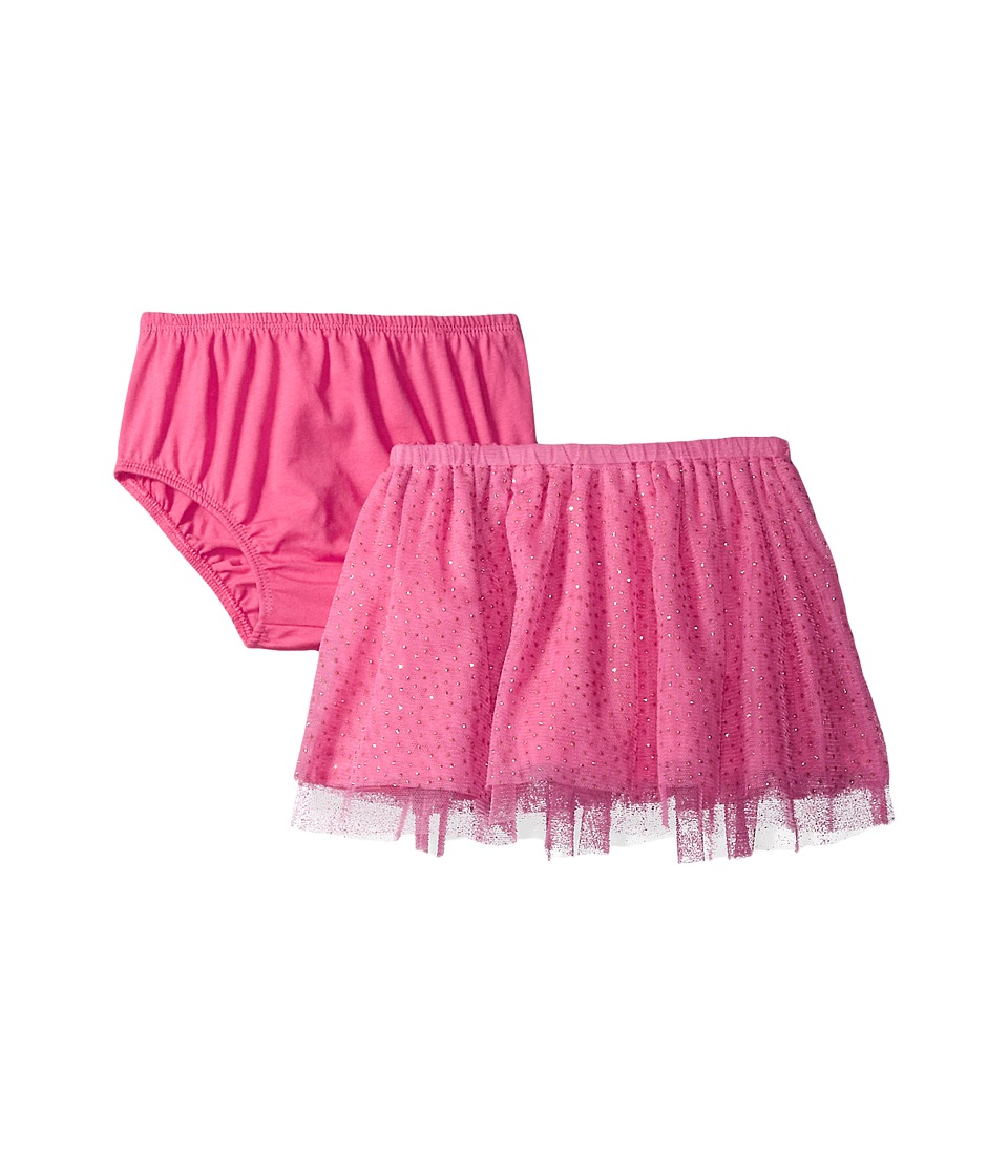 Mud Pie - Pink Mesh Skirt and Bloomers (Infant/Toddler) (Pink) Girl's Clothing