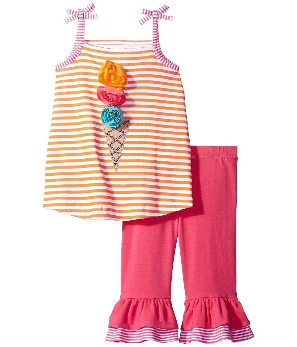 Mud Pie - Popsicle Tank Top Shorts Set (Infant) (Pink) Girl's Active Sets