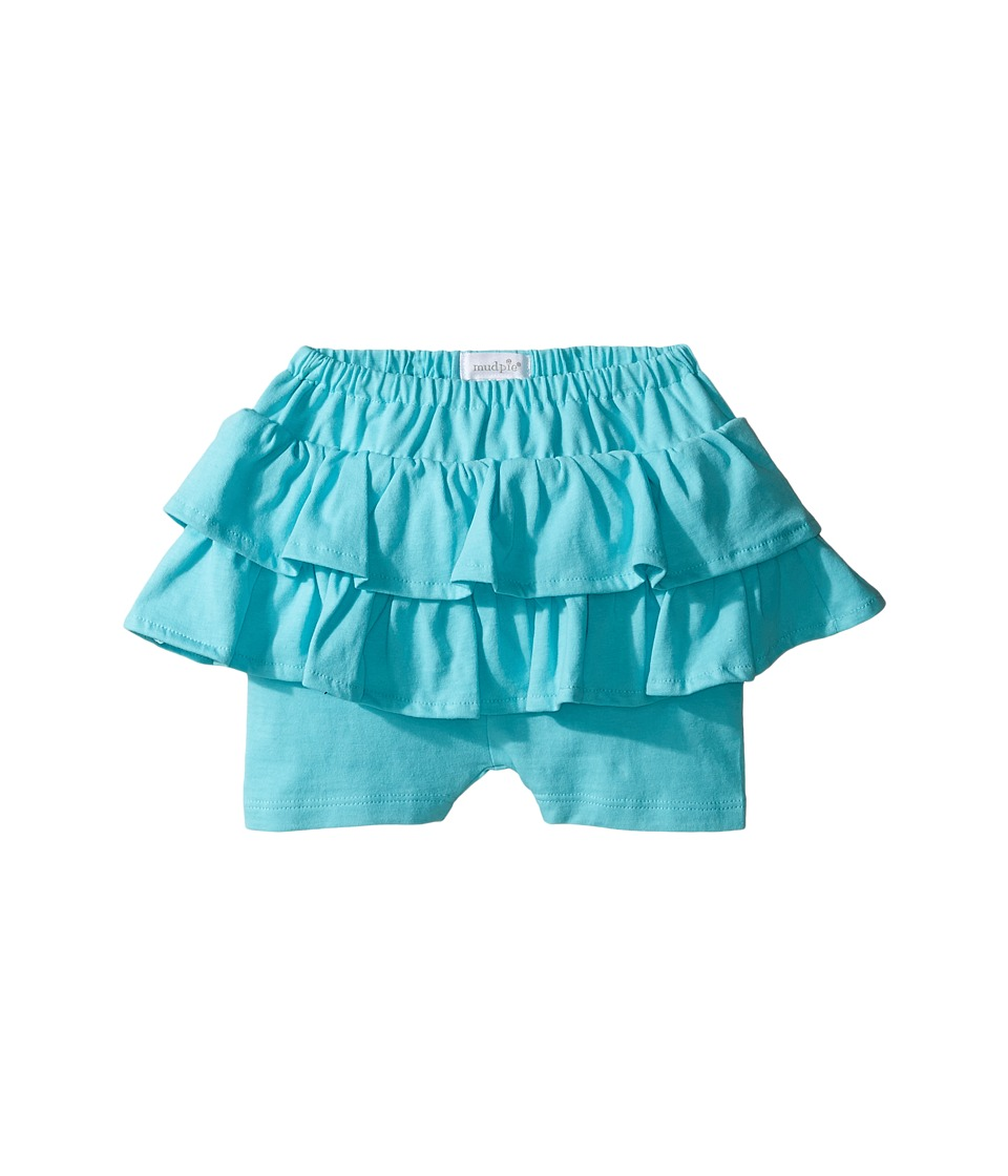 Mud Pie - Blue Skirted Shorts (Infant/Toddler) (Blue) Girl's Skort