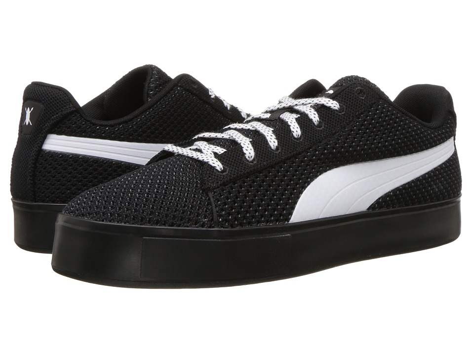 PUMA - Puma X DP Court Platform K (Puma Black/Puma White) Men's Shoes