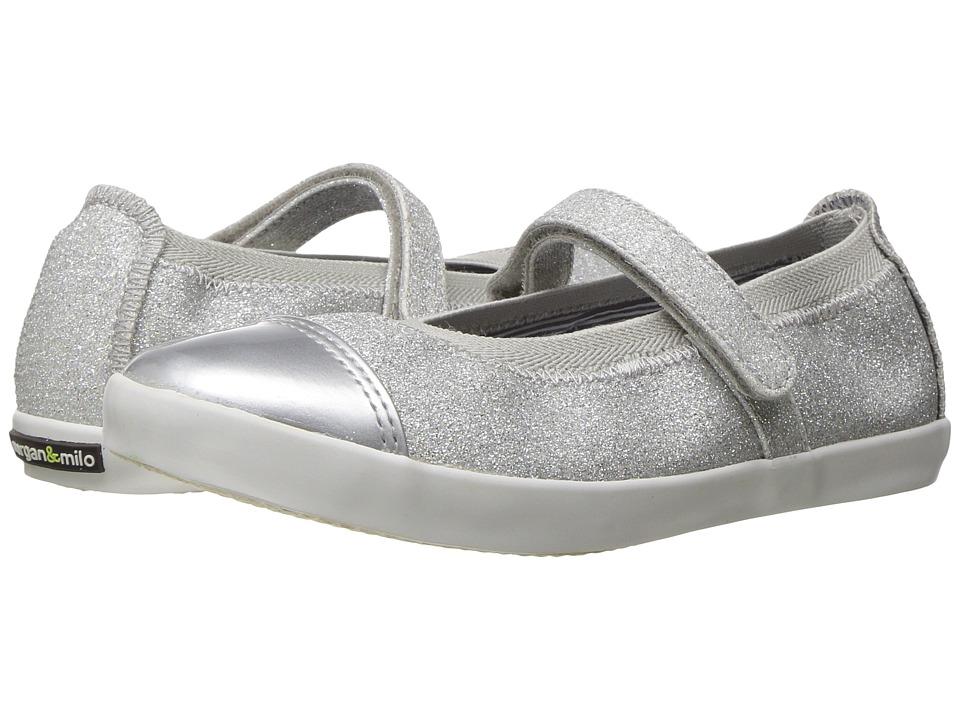 Morgan&Milo Kids Olivia Mary Jane (Toddler/Little Kid) (Silver) Girls Shoes