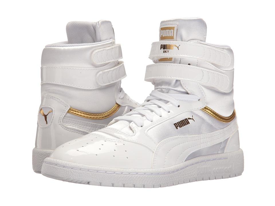 PUMA - Sky II Hi Explosive (Puma White/Puma White) Women's Shoes