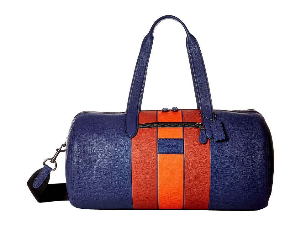 COACH - Metropolitan Soft Gym Bag (QB/Indigo Terracota) Bags
