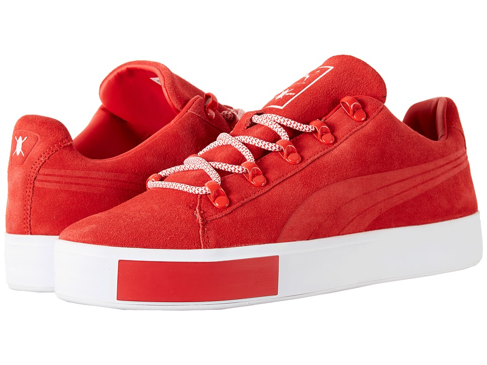 PUMA - Puma X DP Court Platform S (High Risk Red) Men's Shoes