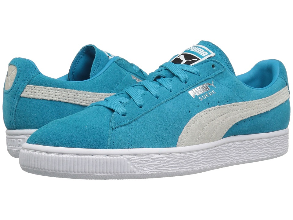 PUMA - Suede Classic + (Blue Danube/Puma White) Men's Shoes
