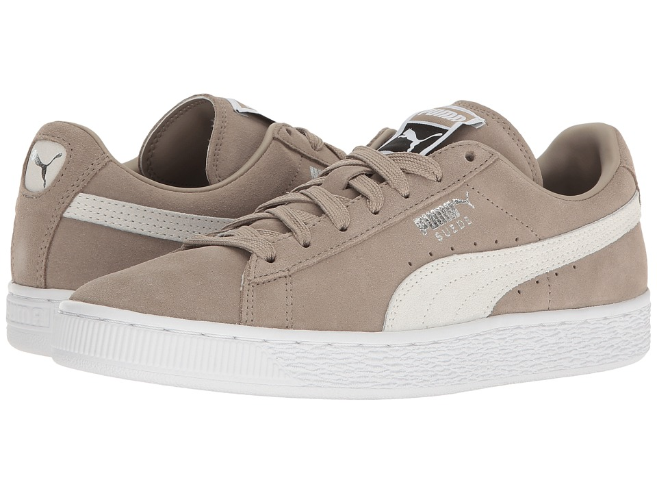 PUMA - Suede Classic + (Vintage Khaki/Puma White) Men's Shoes