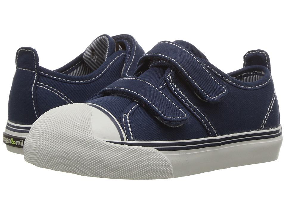 Morgan&Milo Kids - Xander Double Strap (Toddler/Little Kid) (Navy) Boys Shoes