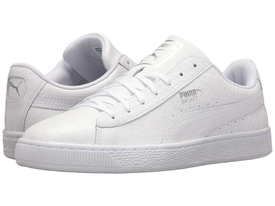 PUMA - Basket Classic BW (PUMA White) Men's Shoes