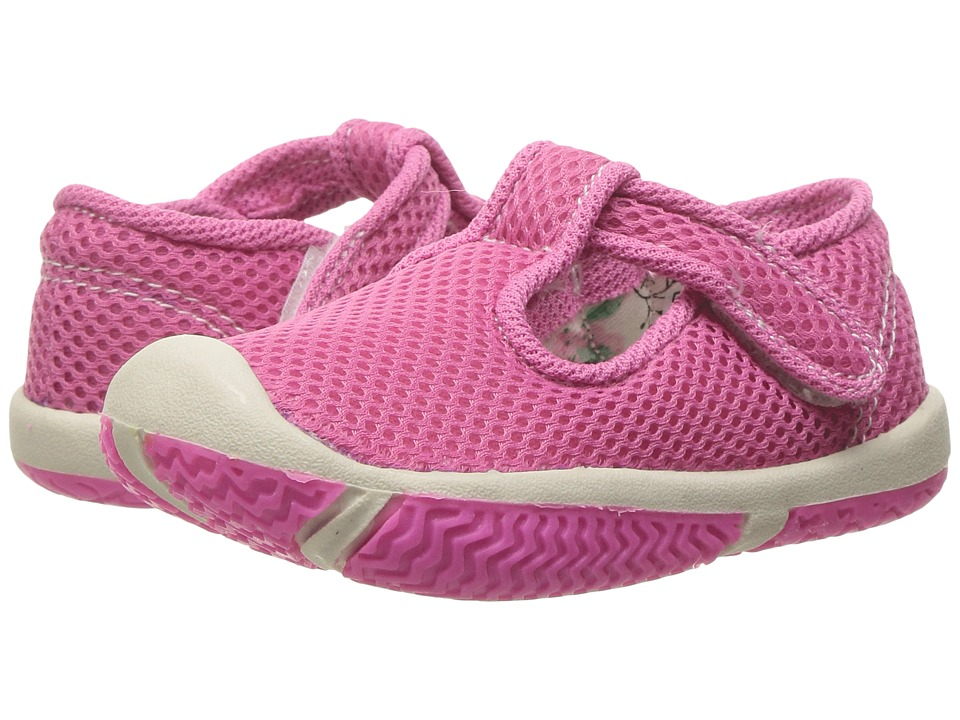 Morgan&Milo Kids - Jackie T-Strap (Toddler) (Neon Pink) Girls Shoes