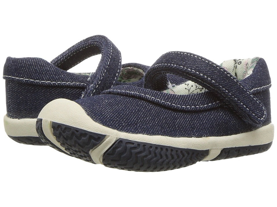 Morgan&Milo Kids - Mookie Mary Jane (Toddler) (Denim) Girls Shoes
