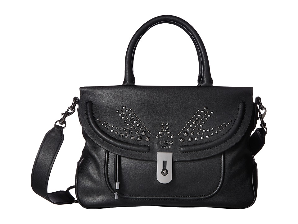 GUESS - Athina Satchel (Onyx) Satchel Handbags