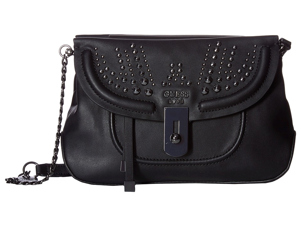 GUESS - Athina Crossbody (Onyx) Cross Body Handbags