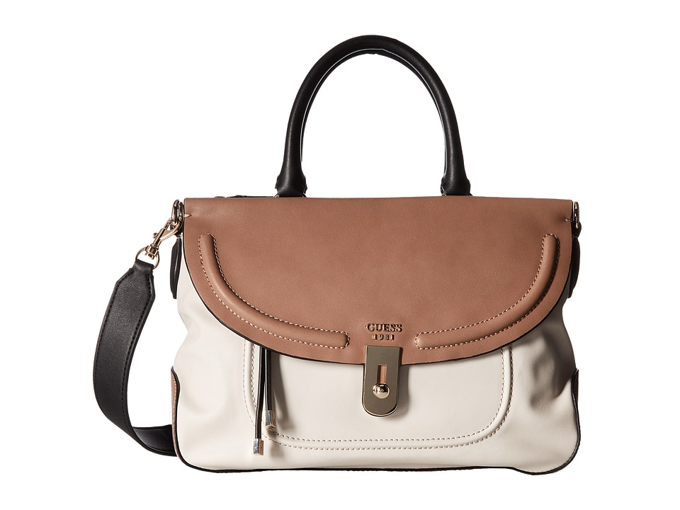 GUESS - Athina Satchel (Stone Multi) Satchel Handbags