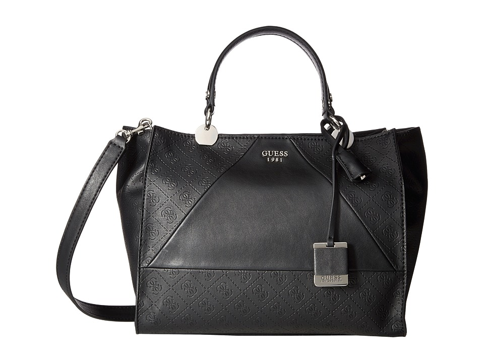 GUESS - Cammie Large Satchel (Black) Satchel Handbags