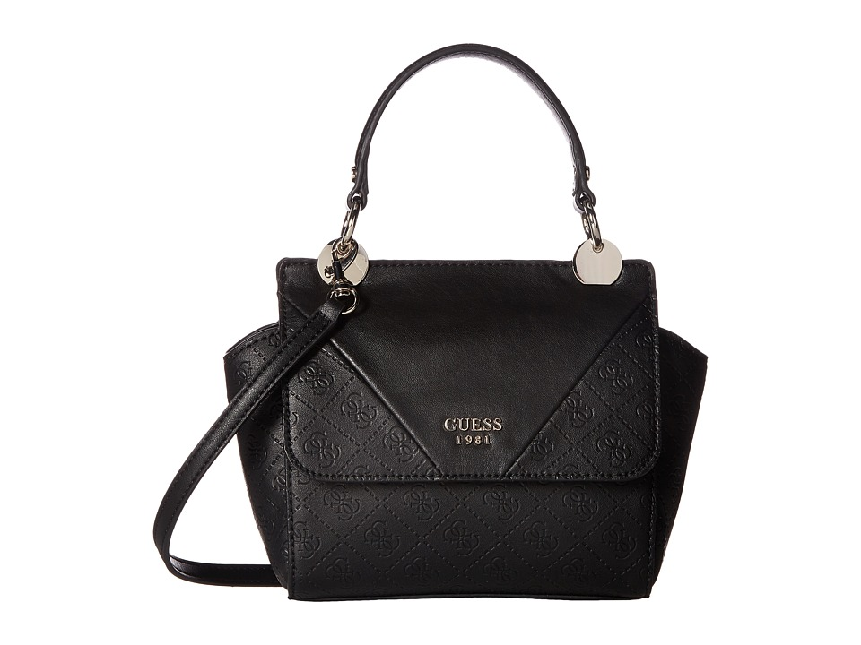 GUESS - Cammie Petite Crossbody Flap (Black) Cross Body Handbags
