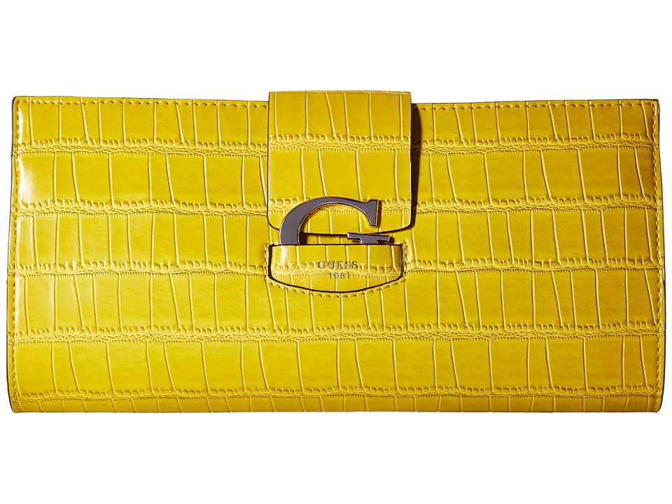 GUESS - Lexxi Clutch (Citrine) Clutch Handbags