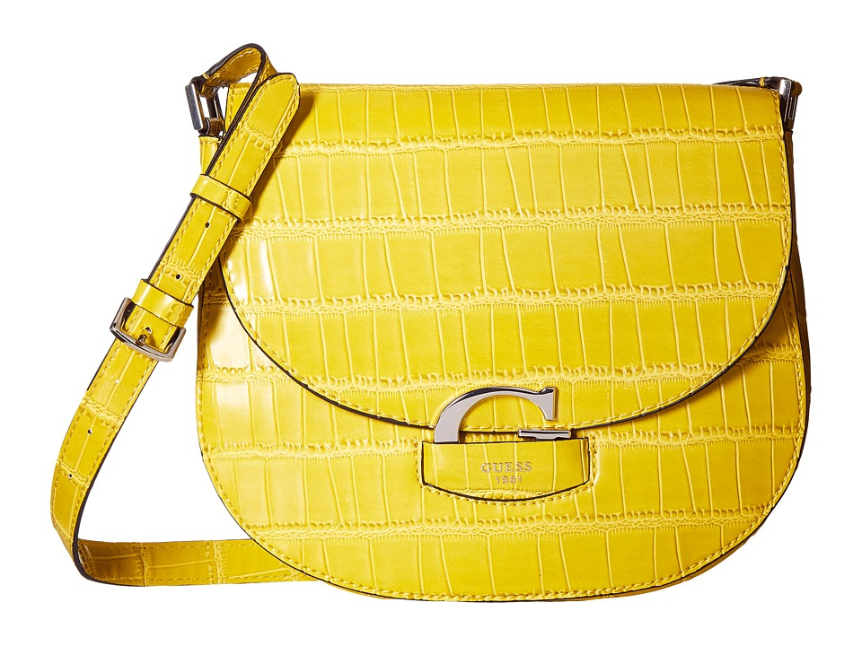 GUESS - Lexxi Saddle Bag (Citrine) Handbags