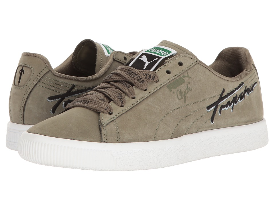 PUMA - Puma X Trapstar Clyde Bold (Burnt Olive) Men's Shoes