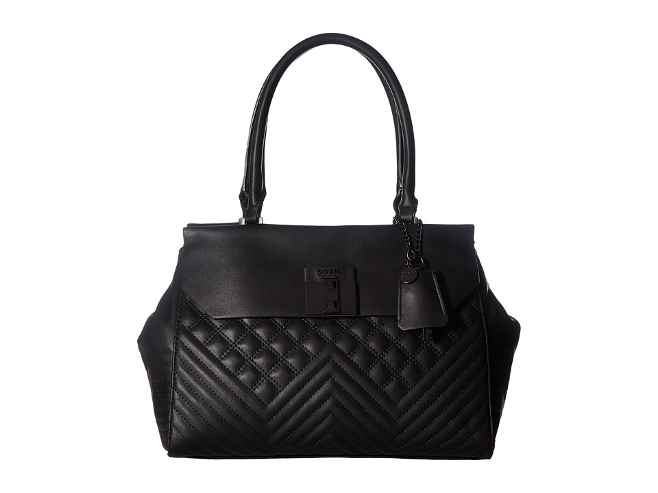 GUESS - Rebel Roma Satchel (Black) Satchel Handbags