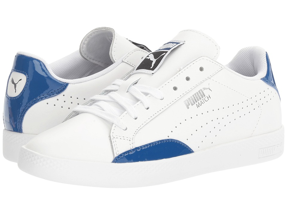 PUMA - Match Basic (PUMA White/True Blue) Women's Shoes