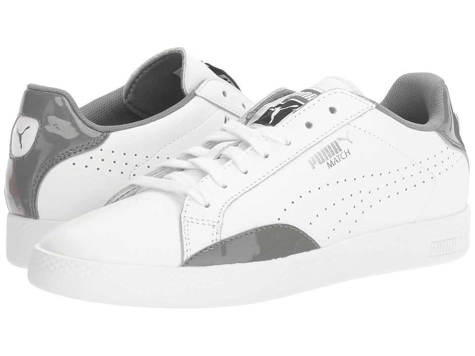 PUMA - Match Basic (Puma White/Quiet Shade) Women's Shoes