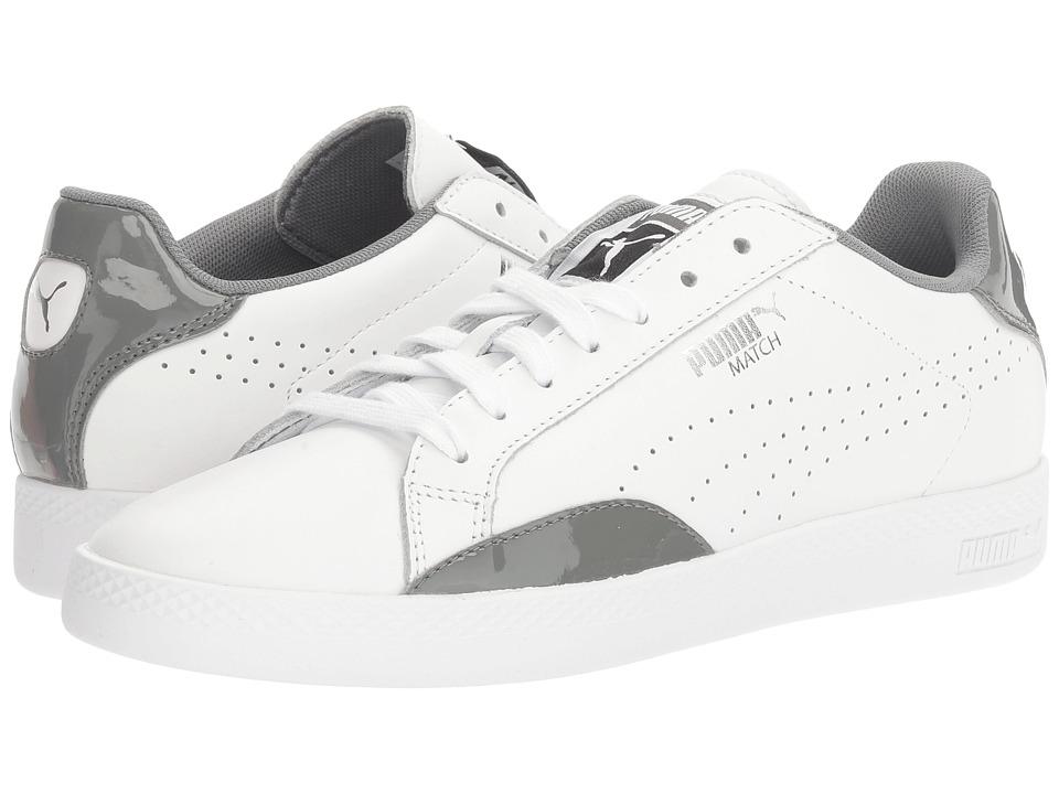 PUMA - Match Basic (Puma White/Quiet Shade) Women's Shoes