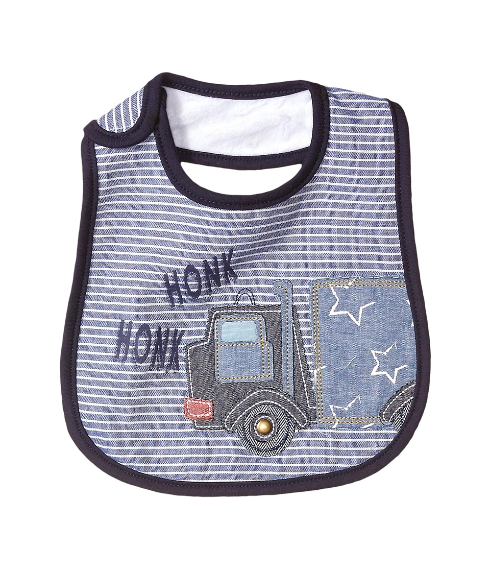 Mud Pie - Honk Honk Truck Bib (Blue) Accessories Travel
