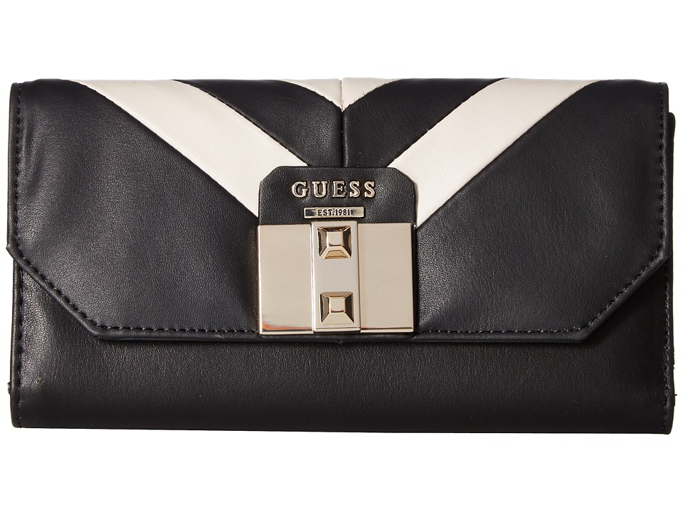 GUESS - Rebel Roma Multi Clutch (Black Multi) Clutch Handbags