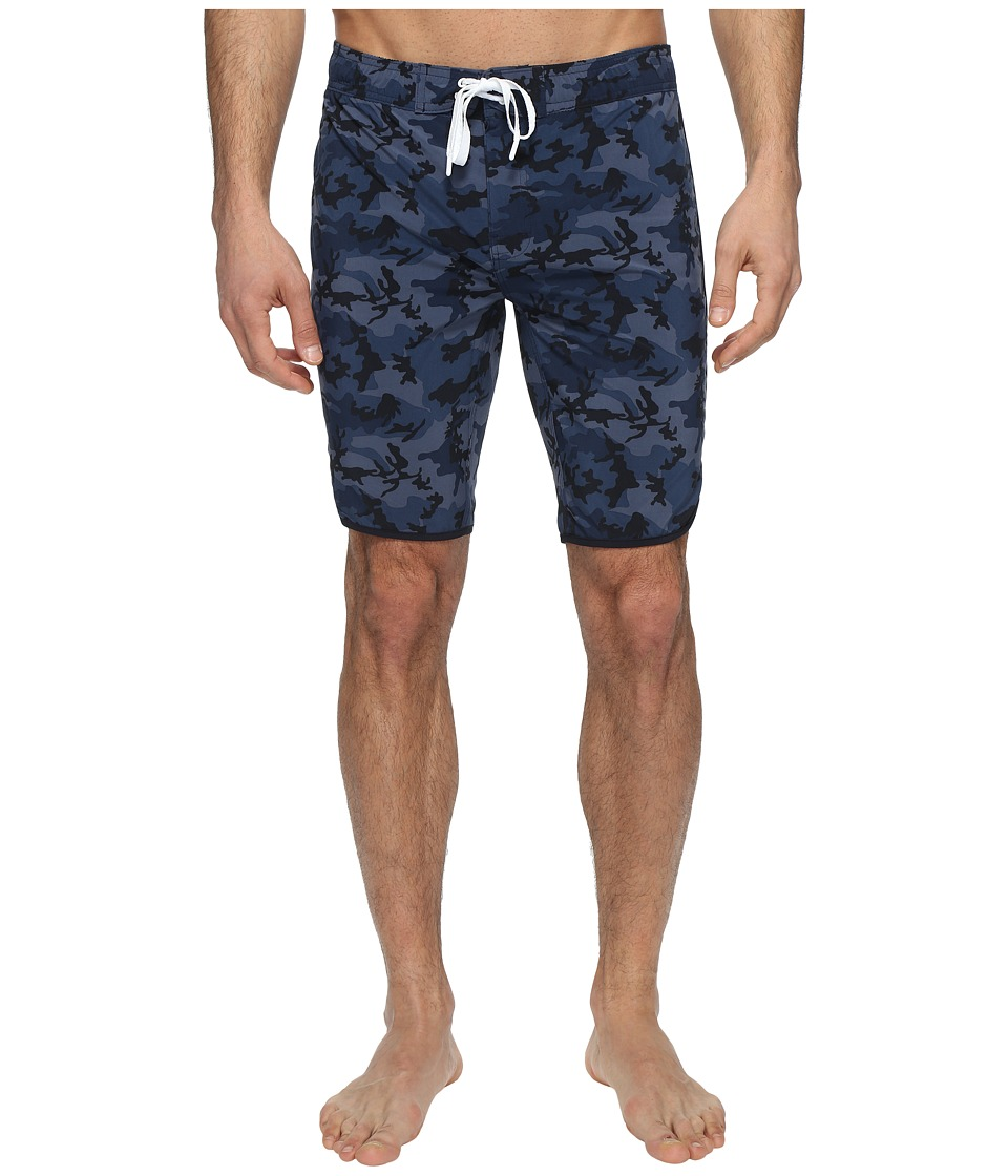 2(X)IST - Jogger Slim Boardshorts (Camo Navy) Men's Swimwear