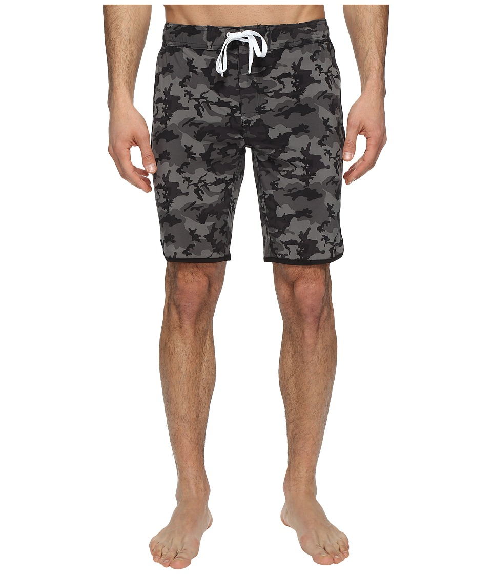 2(X)IST - Jogger Slim Boardshorts (Camo Black) Men's Swimwear