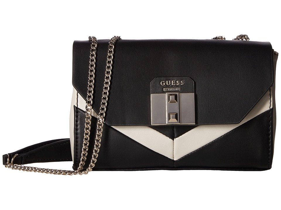 GUESS - Rebel Roma Petite Convertible Crossbody (Black Multi) Cross Body Handbags