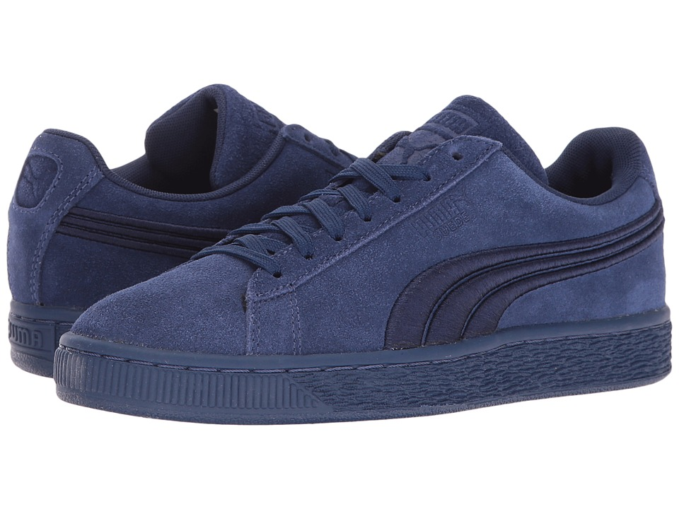 PUMA - Suede Classic Badge (Twilight Blue) Men's Shoes