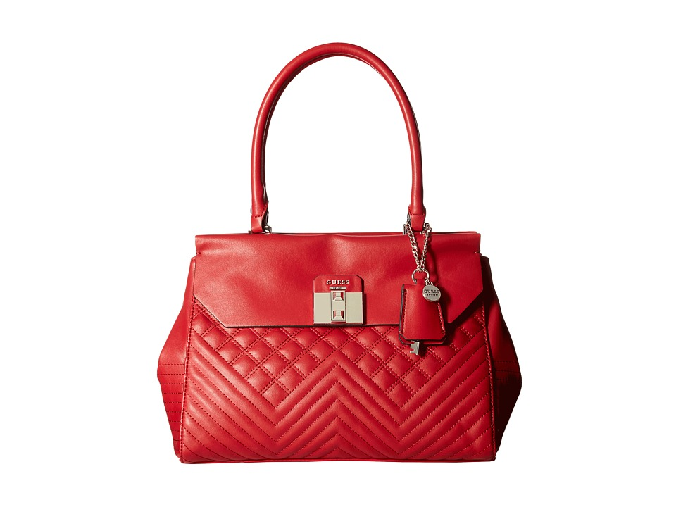 GUESS - Rebel Roma Satchel (Ruby) Satchel Handbags