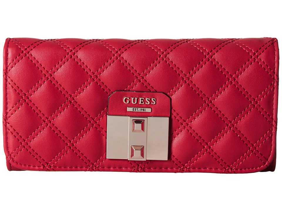 GUESS - Rebel Roma Large Flap Organizer (Ruby) Handbags