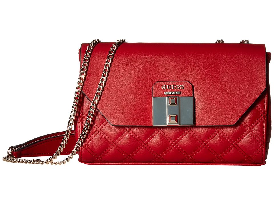 GUESS - Rebel Roma Petite Convertible Crossbody (Ruby) Cross Body Handbags